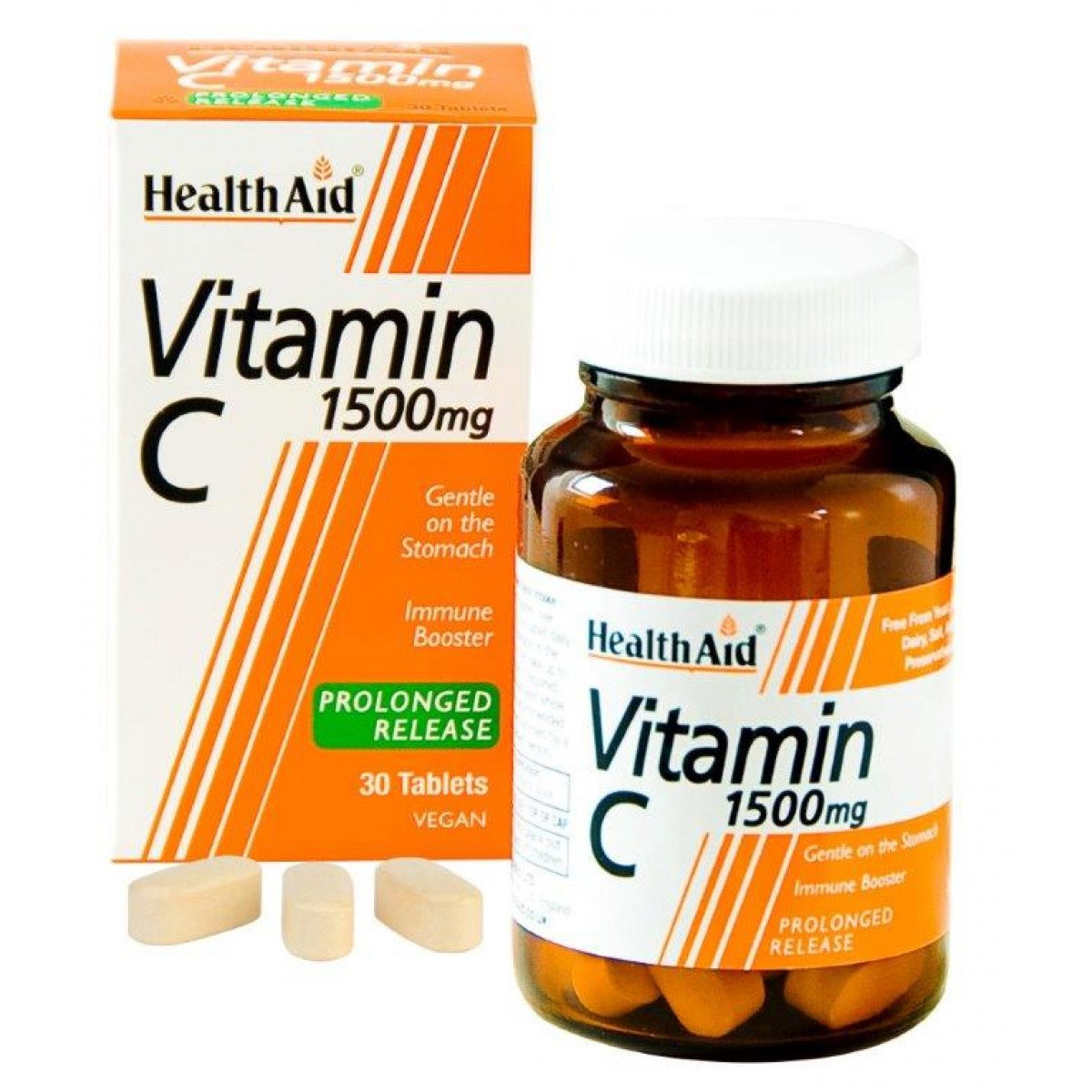Health Aid Vitamin C 1500mg Prolonged Release, Βιταμίνη C Βραδείας Αποδέσμευσης για Εύκολη Απορρόφηση 30tabs