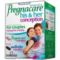 Vitabiotics Pregnacare His & Her Συμπλήρωμα Διατροφής Για Την Αναπαραγωγική Υγεία 30tabs & 30tabs