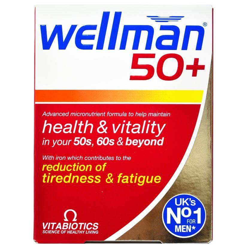 Vitabiotics Wellman 50+ Πολυβιταμίνη Ειδικά Σχεδιασμένη για Άντρες Άνω των 50 ετών 30tabs