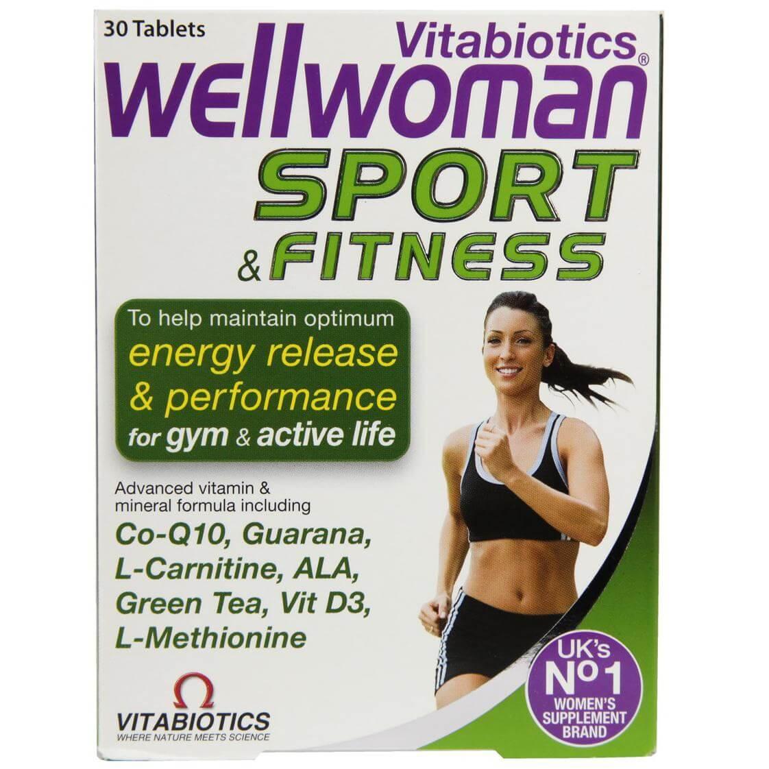 Vitabiotics Wellwoman Sport & Fitness Συμπλήρωμα Διατροφής Ειδικά Σχεδιασμένο για Γυναίκες που Αθλούνται 30tabs