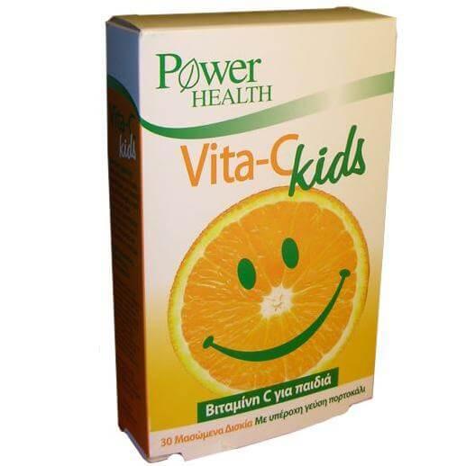 Power Health Vita-C Kids Βιταμίνη C Μόνο Για Παιδιά 30 Μασώμενα Δισκία