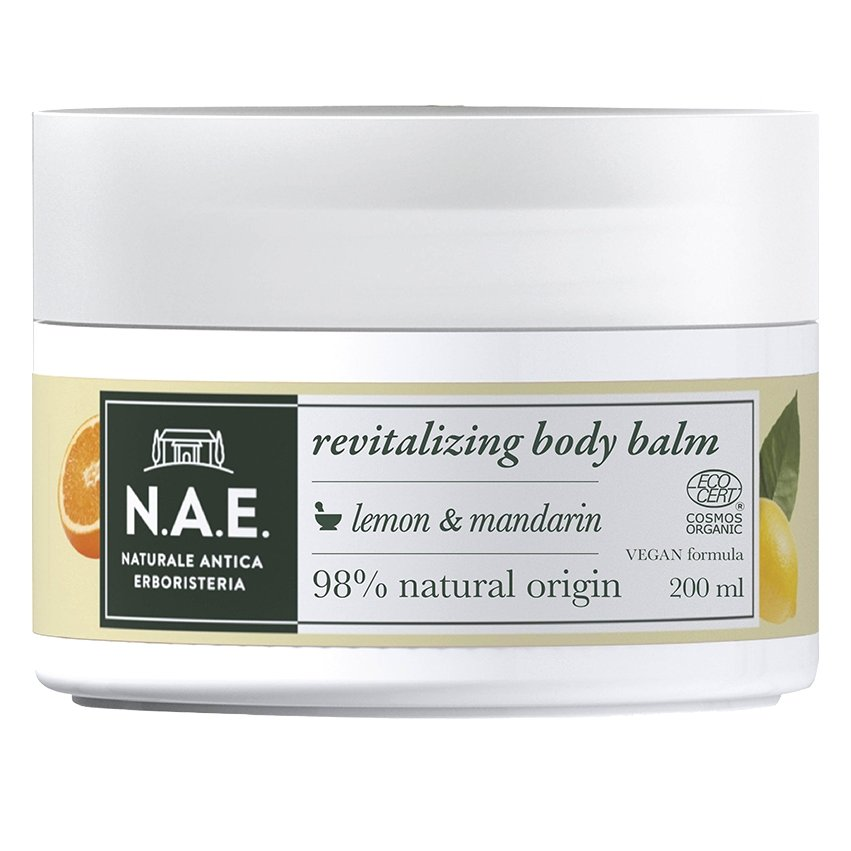 N.A.E. Vitalita Revitalizing Body Balm Αναζωογονητικό Βάλσαμο Σώματος Λεμόνι Μανταρίνι 200ml