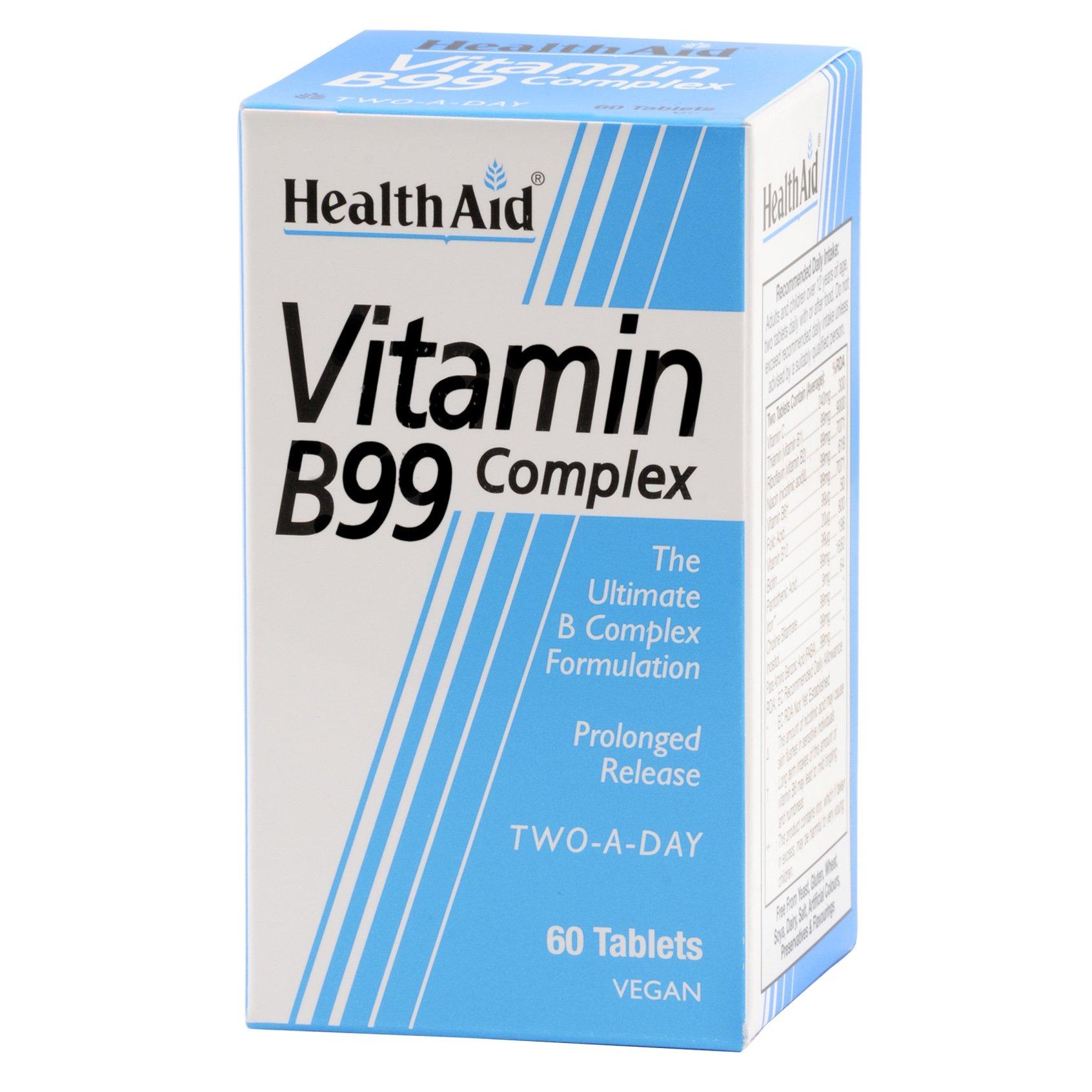 Health Aid B99 Complex Prolonged Release Υγεία Του Νευρικού Και Του Πεπτικού Συστήματος 60tabs