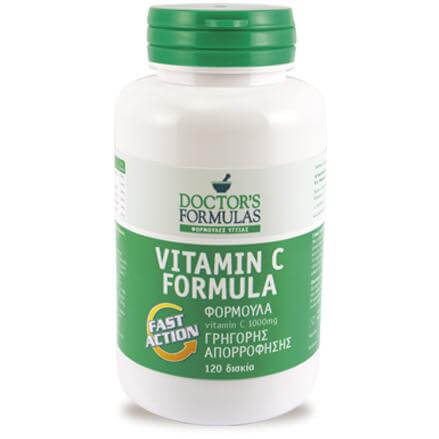 Doctor's Formulas Vitamin C Formula Fast Action 120 Δισκία