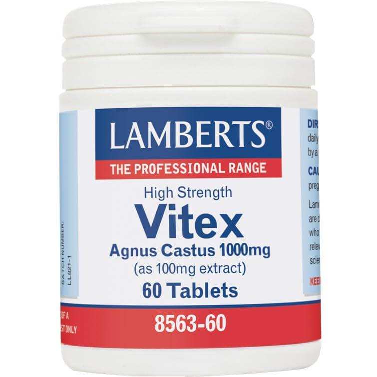 Lamberts Vitex Agnus-Castus Συμπλήρωμα Διατροφής με Αντιοξειδωτικές Ιδιότητες 1000mg 60tabs