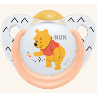 NUK Trendline Disney Winnie the Pooh Πιπίλα Καουτσούκ – Μέγεθος 1 (0-6 μηνών)