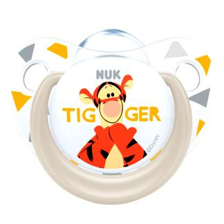 Nuk Trendline Disney Winnie the Pooh Πιπίλα Σιλικόνης με ΚρίκοΧωρίς BPA – Μέγεθος 2 (6-18 μηνών)