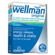 Vitabiotics Wellman Ειδικά Σχεδιασμένη Για Άνδρες 30Tabs