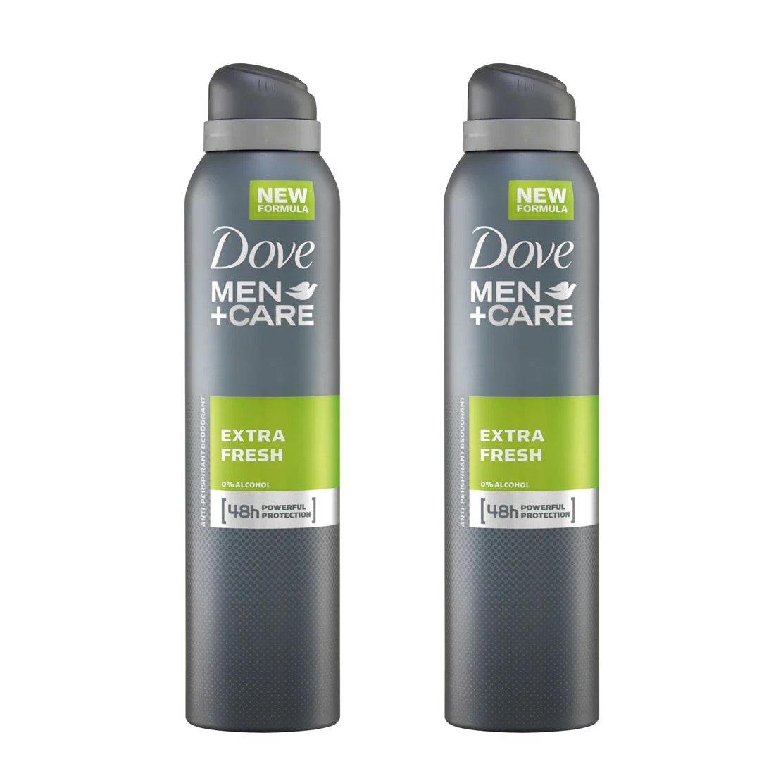 Dove Men Spray Αποσμητικό Spray Extra Fresh 2 x150ml Πακέτο 1+1