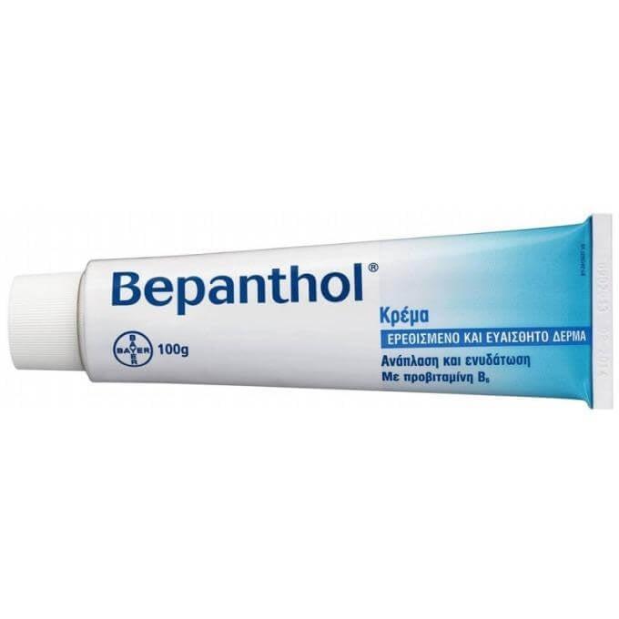 Bepanthol Κρέμα για το Ερεθισμένο &Ευαίσθητο Δέρμα 5% 100gr & Δώρο 2 Δείγματα B φαρμακείο   αυτοθεραπεία   ηλιακά εγκαύματα  τattoo