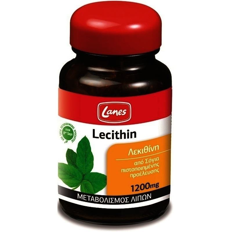 Lanes Lecithin Σόγιας 1200mg Αποτρέπει Τη Συσσώρευση Της Χοληστερίνης Στις Αρτηρίες 30caps