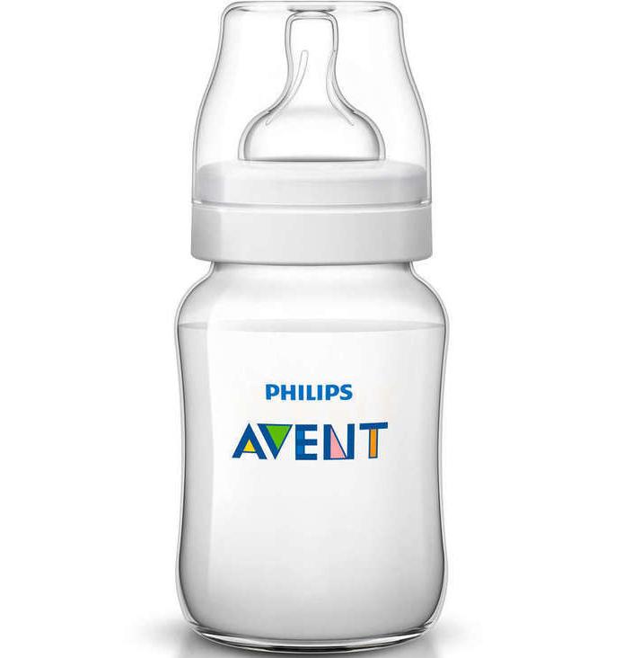 Avent Classic+ Πλαστικό Μπιμπερό 1m+ Μηνών με Πιπίλα Σιλικόνης 260ml ΧωρίςBPA SCF563/17