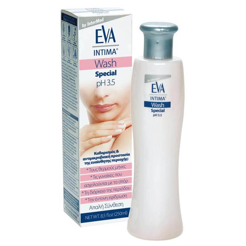 Eva Intima Wash Special pH 3,5 Καθαρισμός, Απόσμηση & Περιποίηση της Ευαίσθητης Περιοχής 250ml