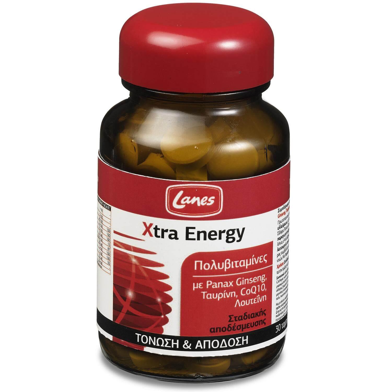 Lanes Xtra Energy Πολυβιταμίνες για Ενέργεια Τόνωση και Πνευματική Διαύγεια 30 tabs