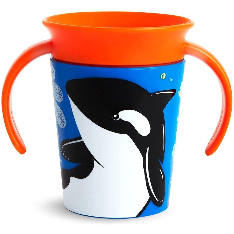 Munchkin Miracle 360 Κύπελλο με Λαβές Φάλαινα 6m+ 177ml