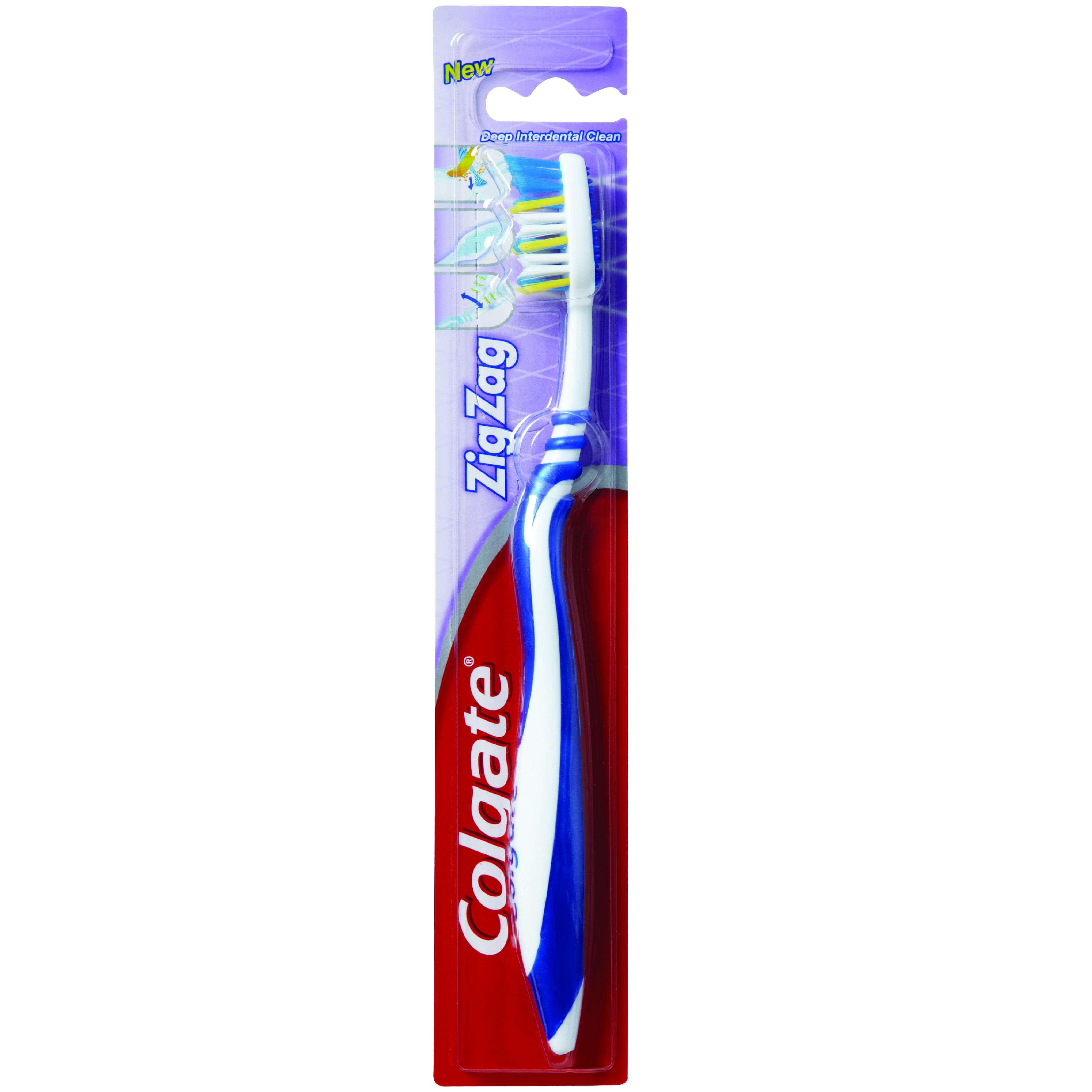 Colgate ZigZag Medium Οδοντόβουρτσα Μέτρια που Βοηθά στον Καθαρισμό των Δυσπρόσιτων Σημείων 1 Τεμάχιο