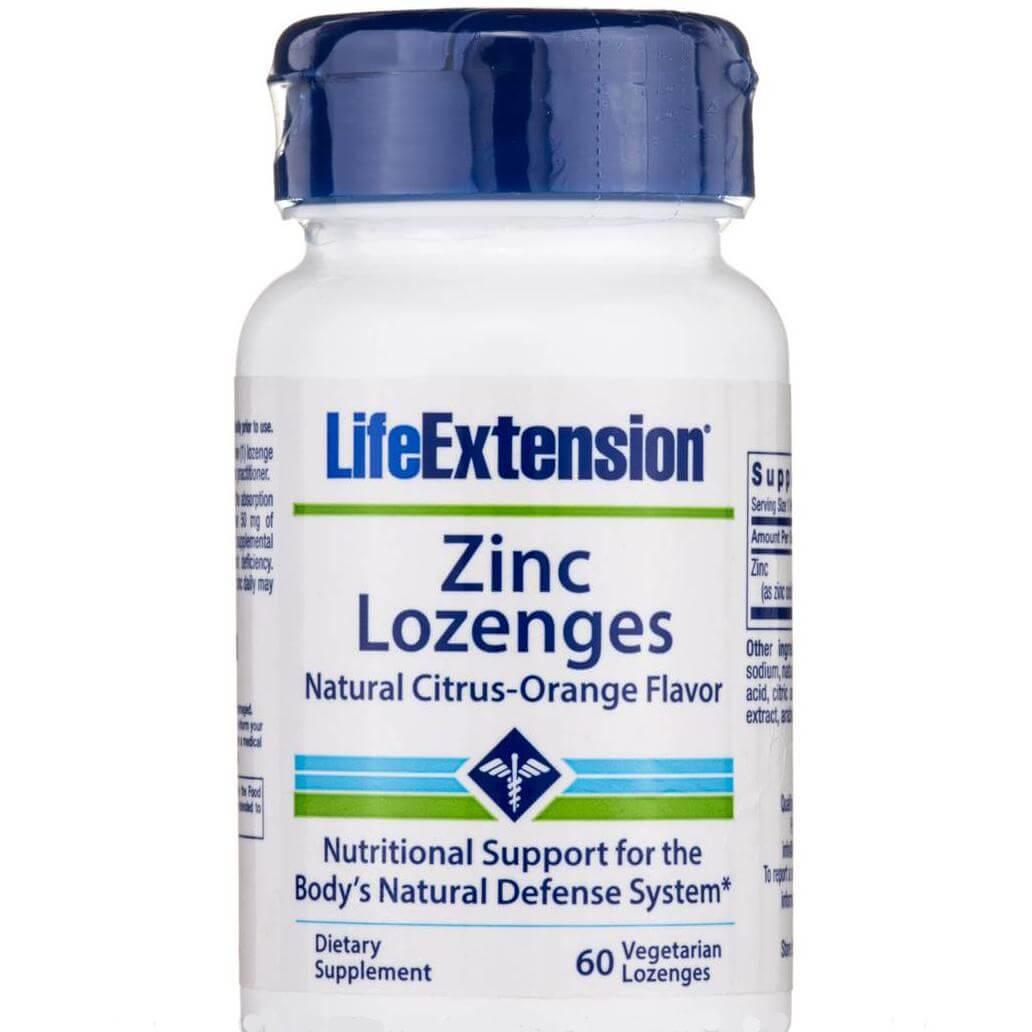 Life Extension Zinc Lozenges Συμπλήρωμα Διατροφής για την Φυσιολογική Λειτουργία του Ανοσοποιητικού 60veg.loz